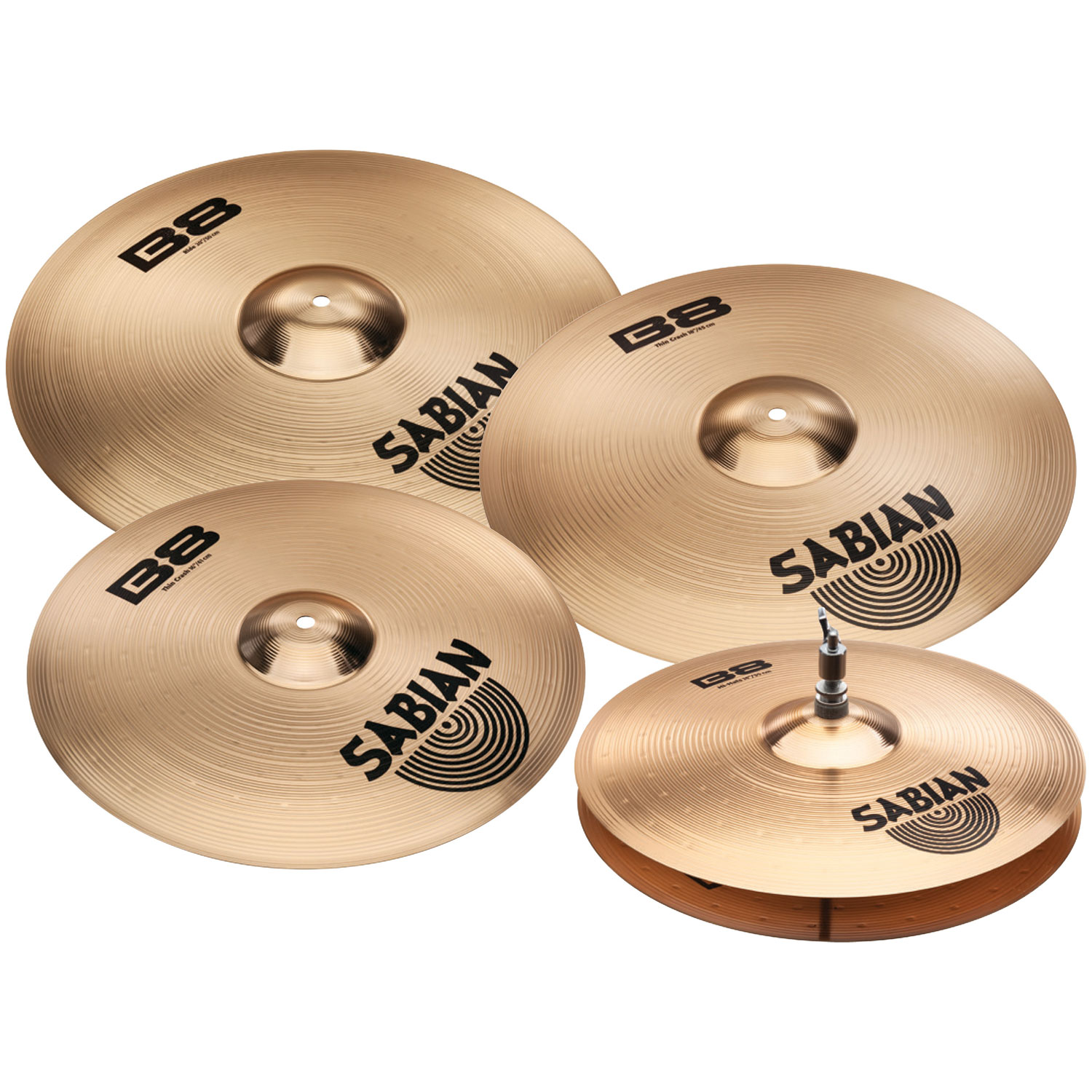 sabian b8 performance set plus 3 piece cymbal box set with free 18 crash hi hats 2 crashes ride. Black Bedroom Furniture Sets. Home Design Ideas