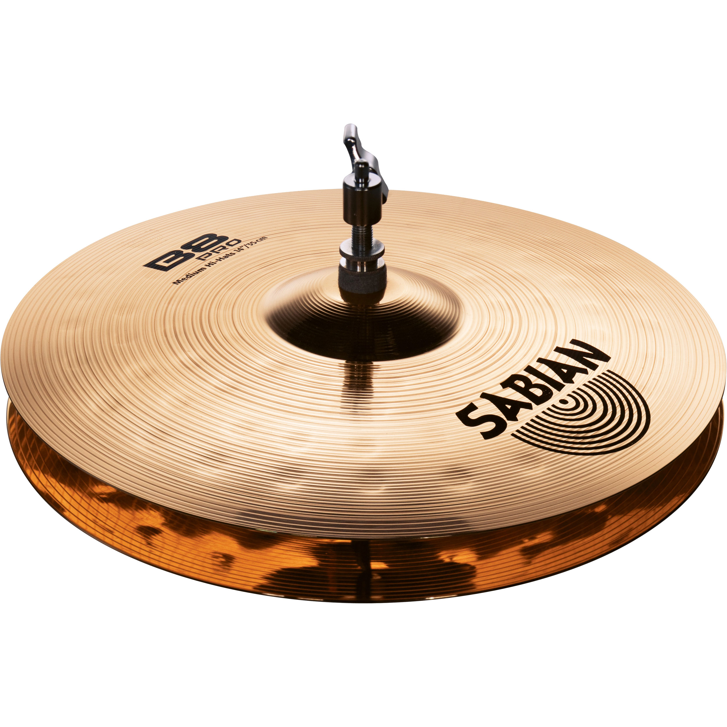 sabian 14 b8 pro medium hi hat cymbals with brilliant finish 31402b. Black Bedroom Furniture Sets. Home Design Ideas