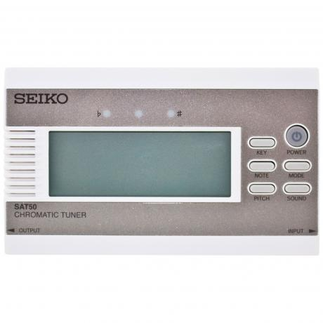 Seiko SAT50 Gold Chromatic Tuner with Built-in-Microphone