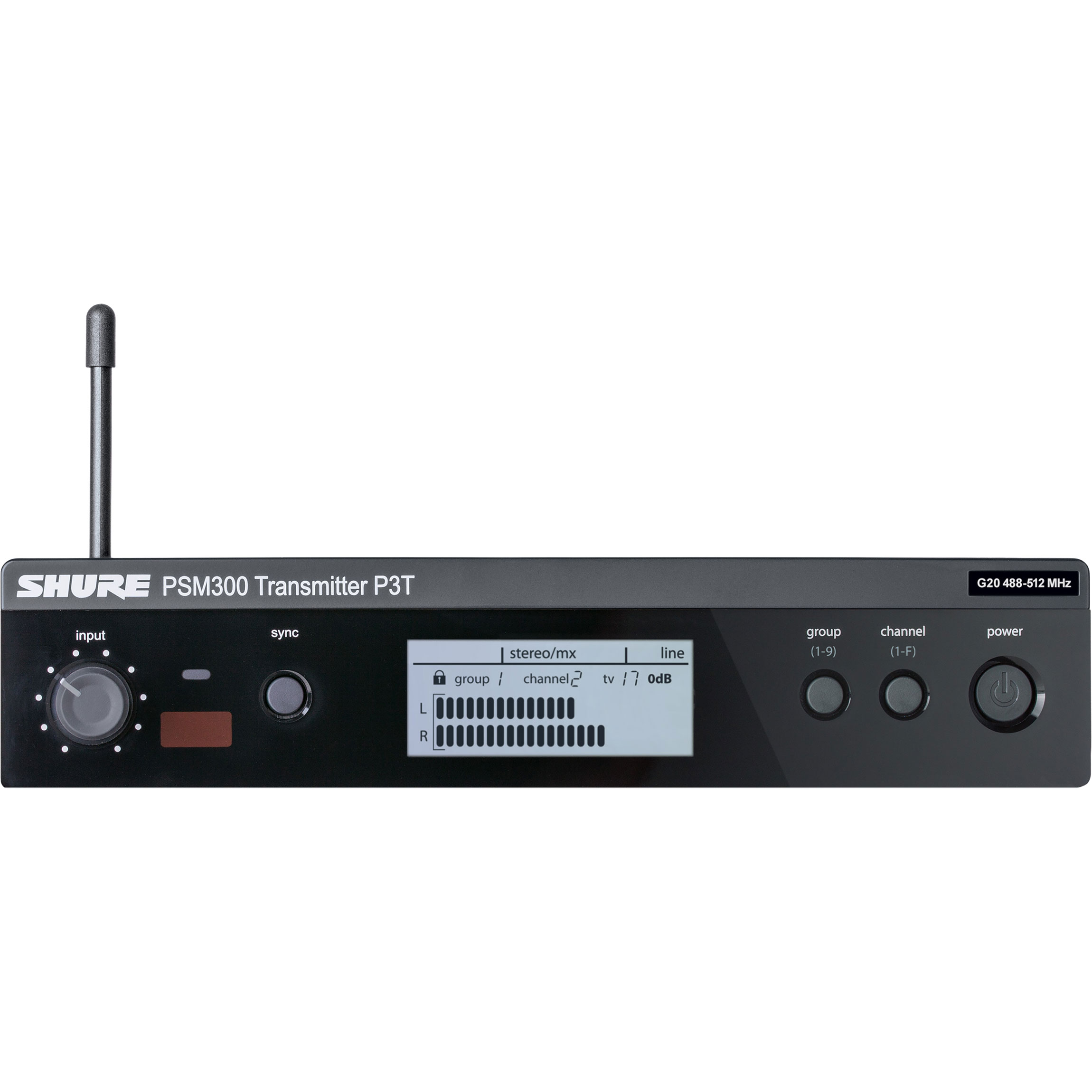 Shure PSM300 Wireless In-Ear Monitor Rackmount Transmitter