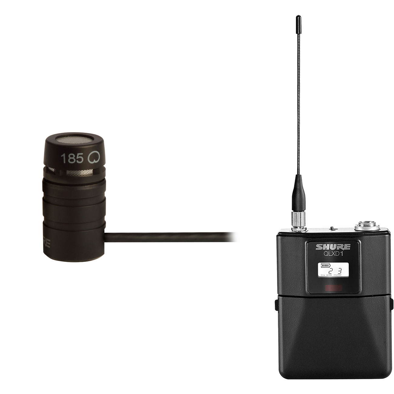 Shure QLX-D Bodypack Transmitter with WL185 Lavalier Microphone