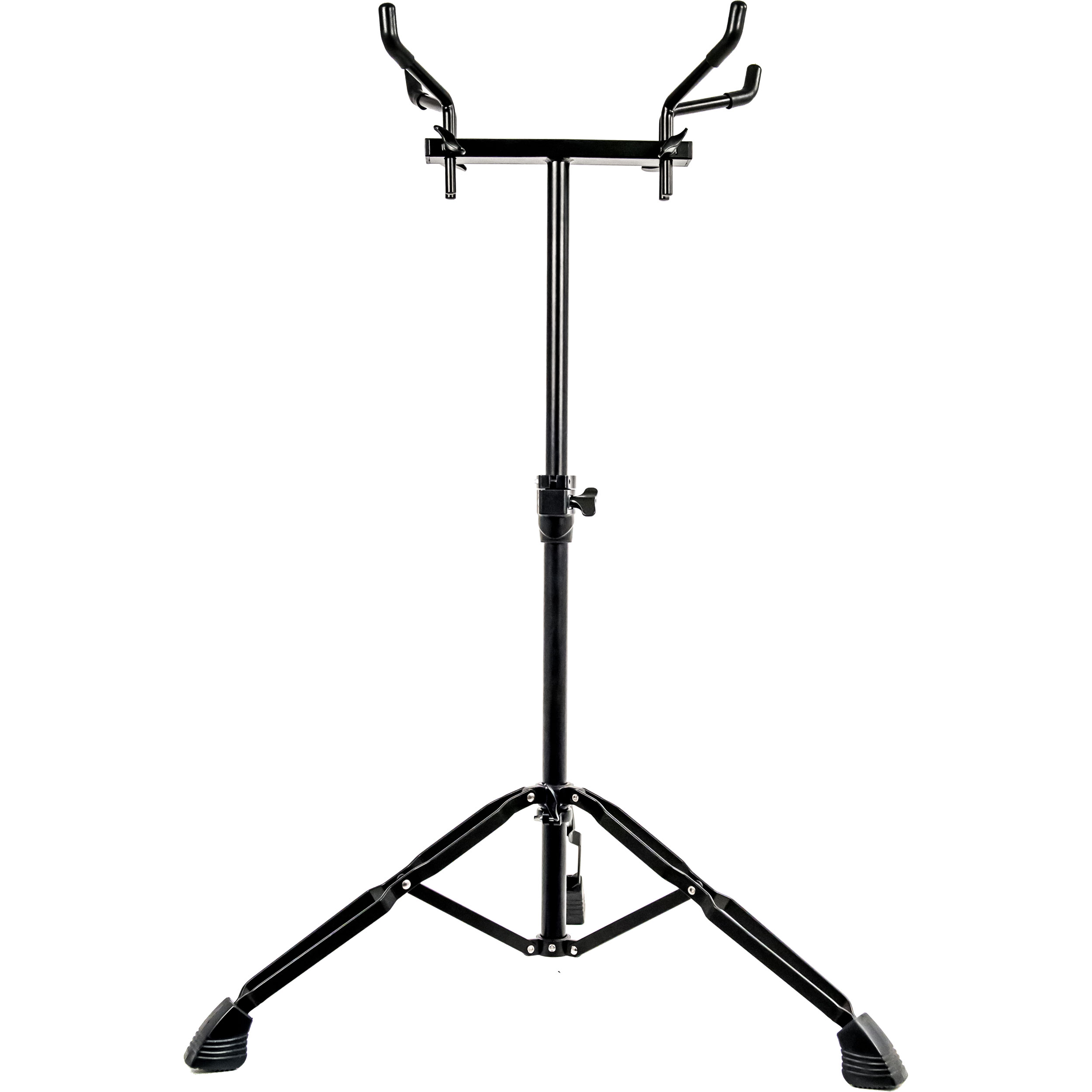 System Blue Black Marching Bass Drum Stand