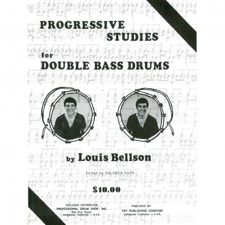 Progressive Studies For Double Bass Drums by Louie Bellson