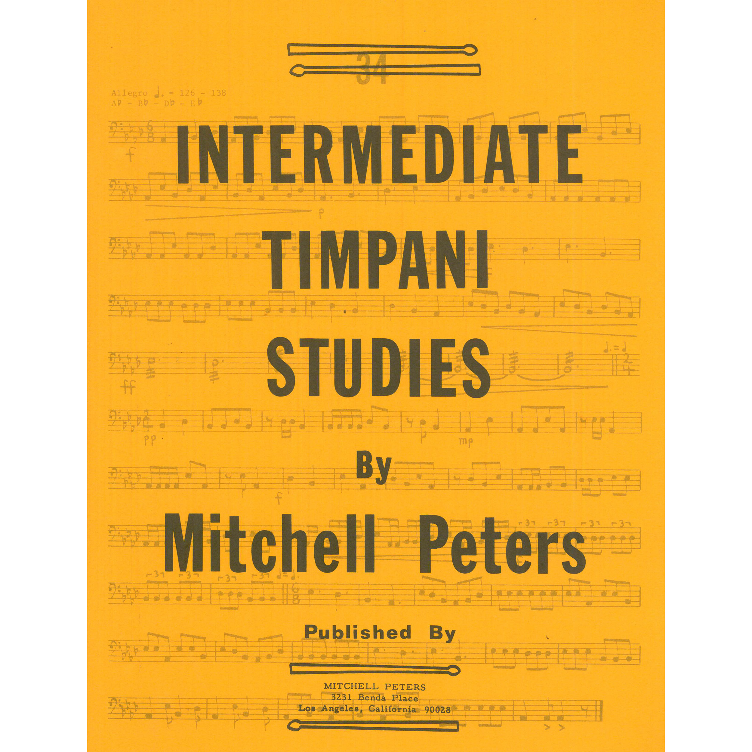 Intermediate Timpani Studies by Mitchell Peters