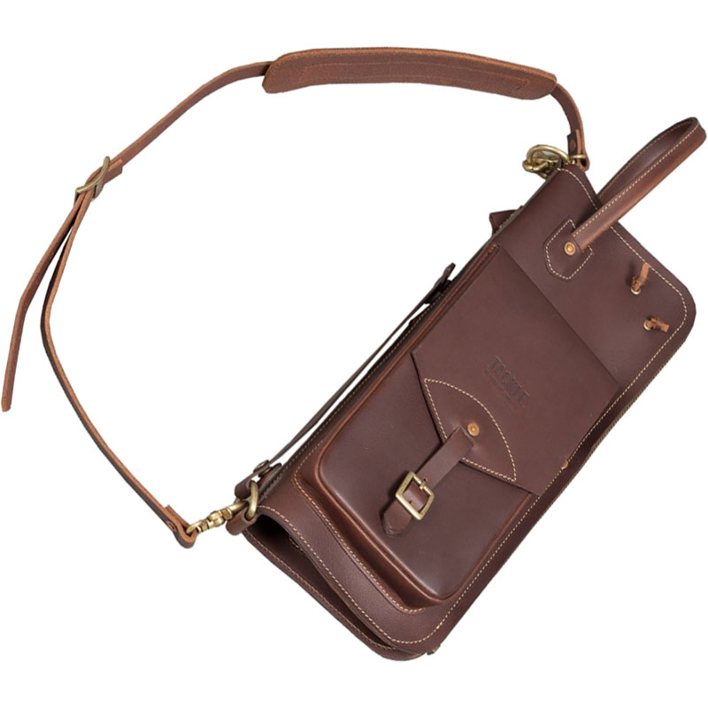 Tackle Instrument Supply Co. Brown Leather Stick Bag with Built-In Stick Stand
