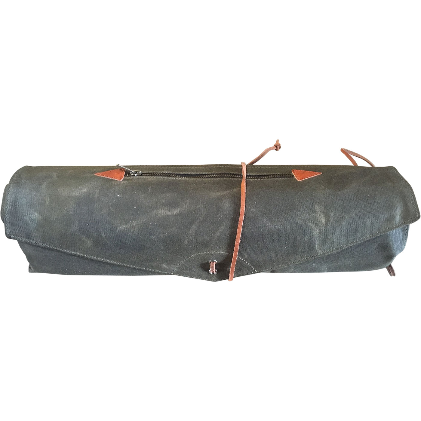 tackle forest green waxed canvas roll up stick bag rusb fg. Black Bedroom Furniture Sets. Home Design Ideas