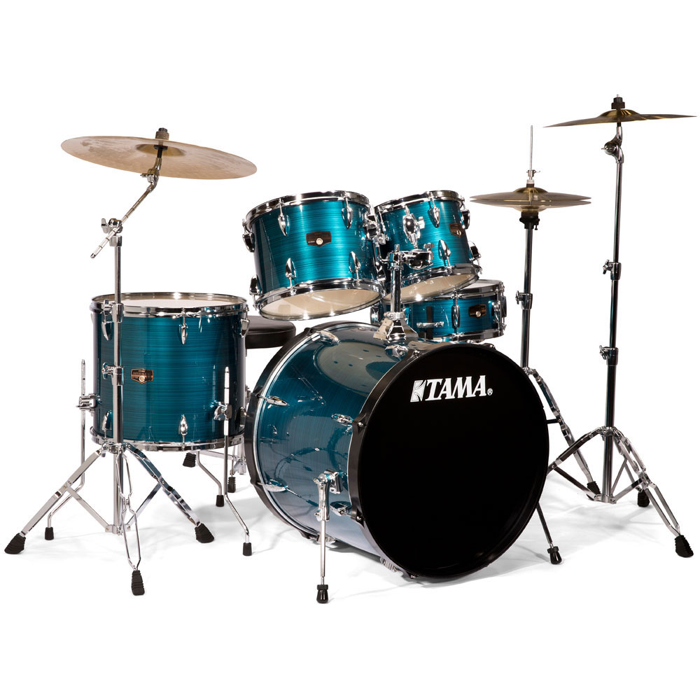 tama imperialstar 5 piece drum set with hardware cymbals 22 bass 10 12 16 toms 14 snare. Black Bedroom Furniture Sets. Home Design Ideas