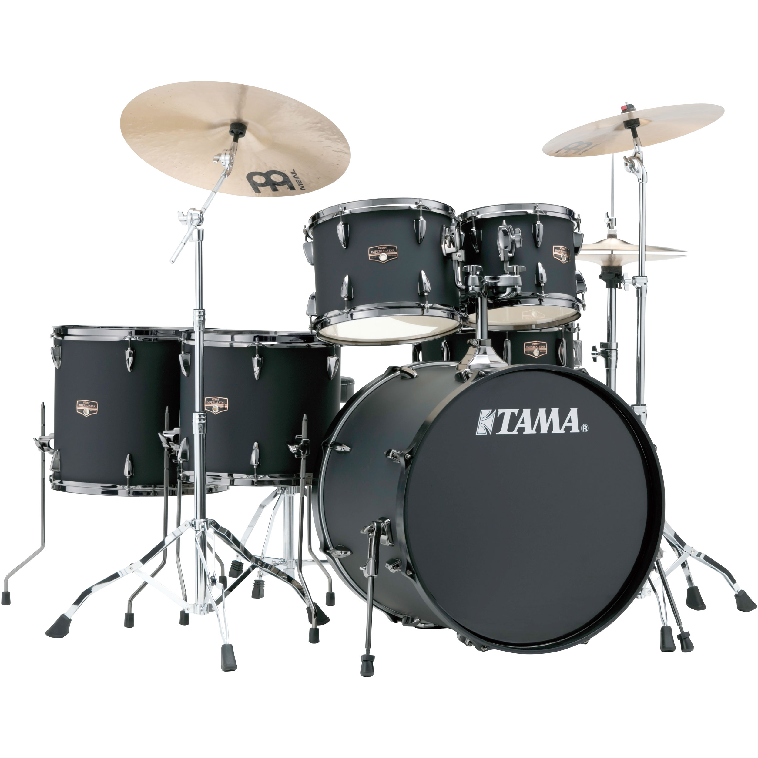 Alternate Image For Tama Imperialstar 6 Piece Drum Set With Black Nickel Hardware And Cymbals