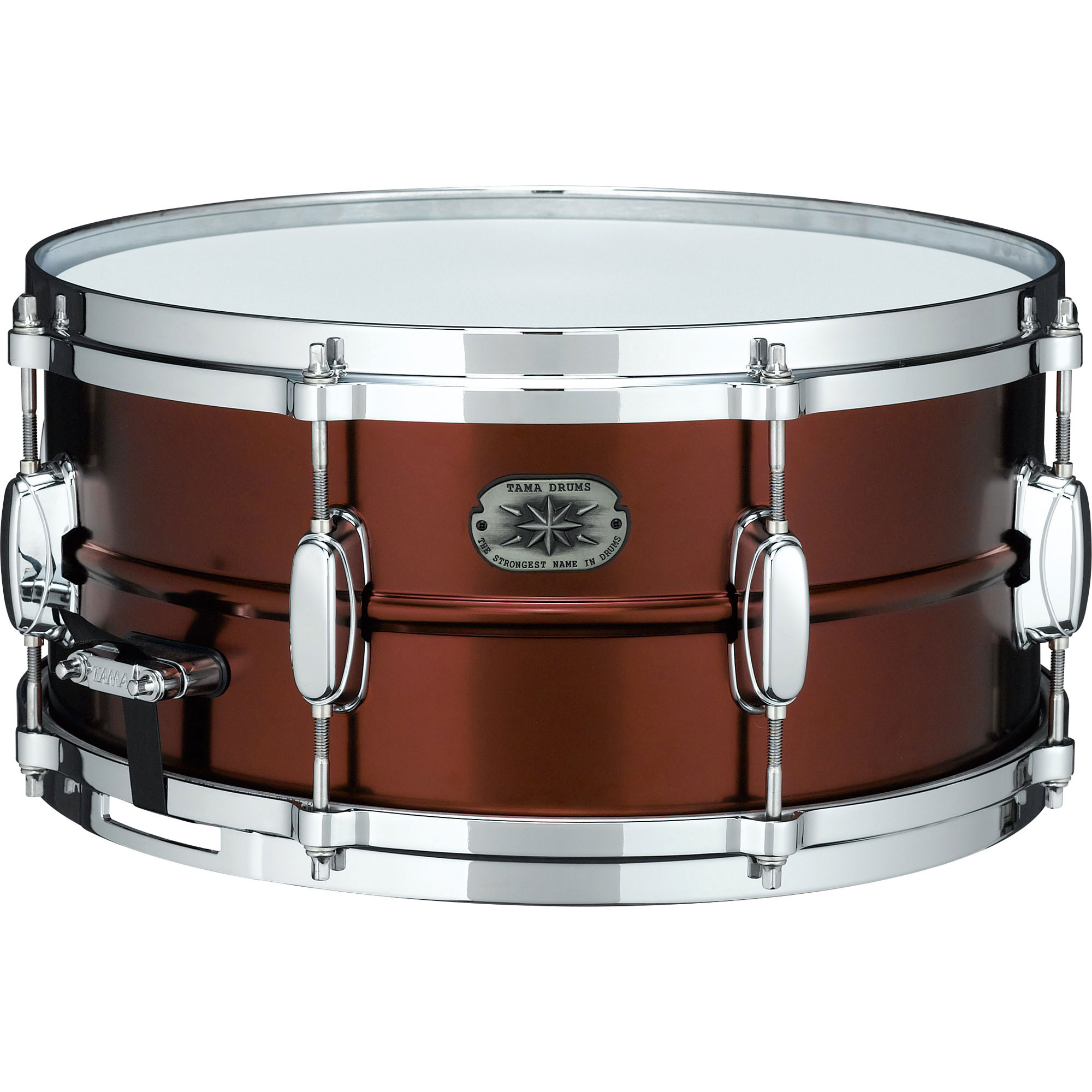 "Tama Limited Edition 6.5"" x 14"" Metalworks Steel Snare Drum in Satin Bronze Lacquer with Chrome Hardware"