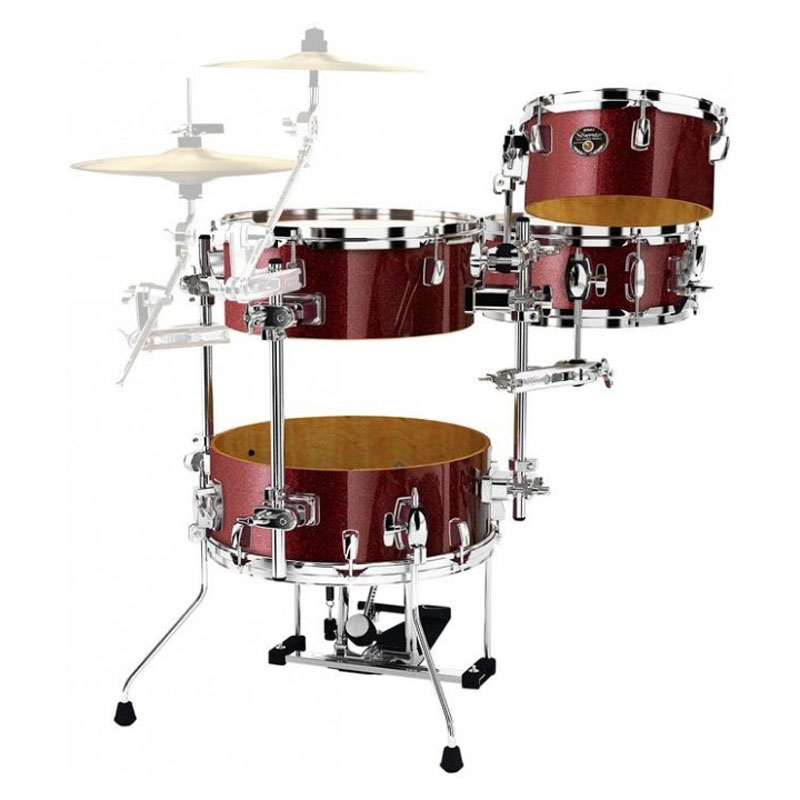 tama silverstar 4 piece cocktail jam drum set 16 bass 10 14 toms 12 snare with pedal bags. Black Bedroom Furniture Sets. Home Design Ideas