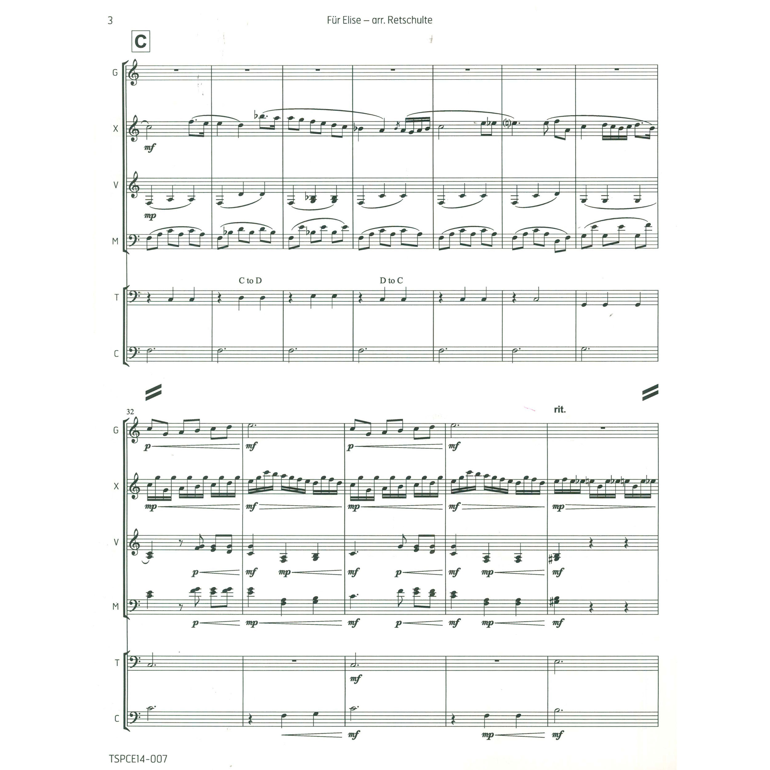 Fur Elise by Beethoven arr  Christopher M  Retschulte