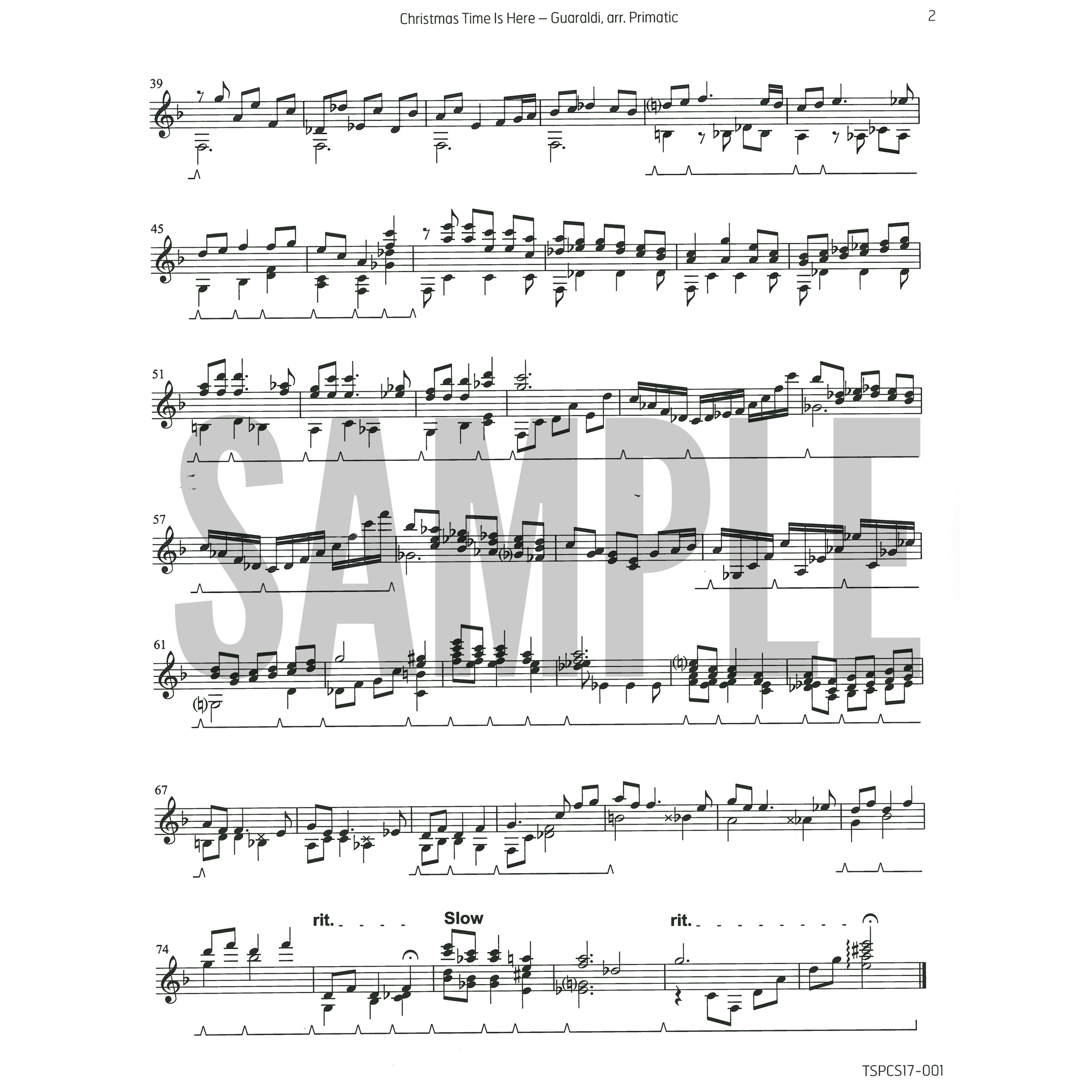 stephen primatic alternate image for christmas time is here by vince guaraldi arr - Christmas Time Is Here Sheet Music