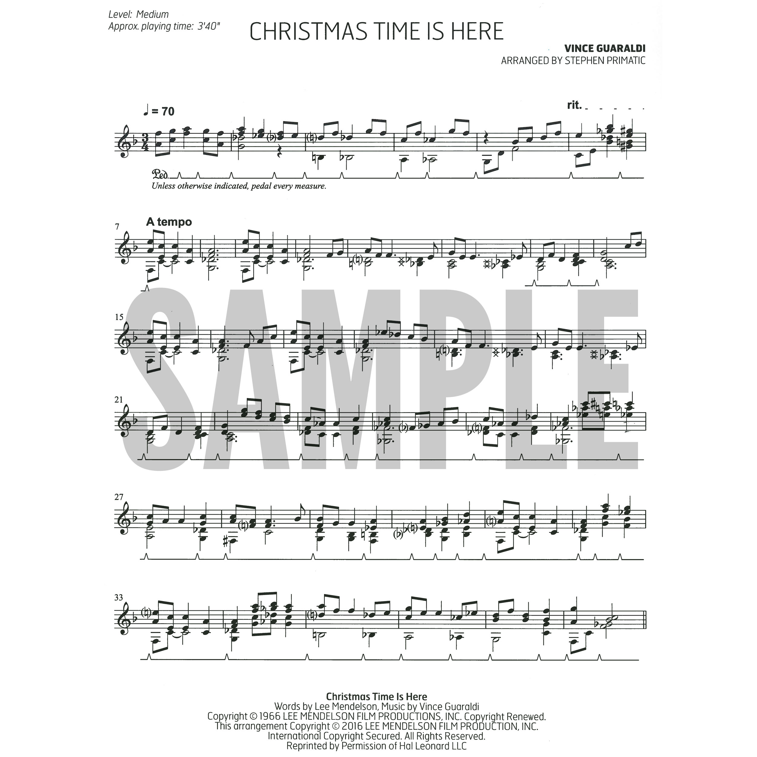 stephen primatic alternate image for christmas time is here by vince guaraldi arr - Vince Guaraldi Christmas Time Is Here