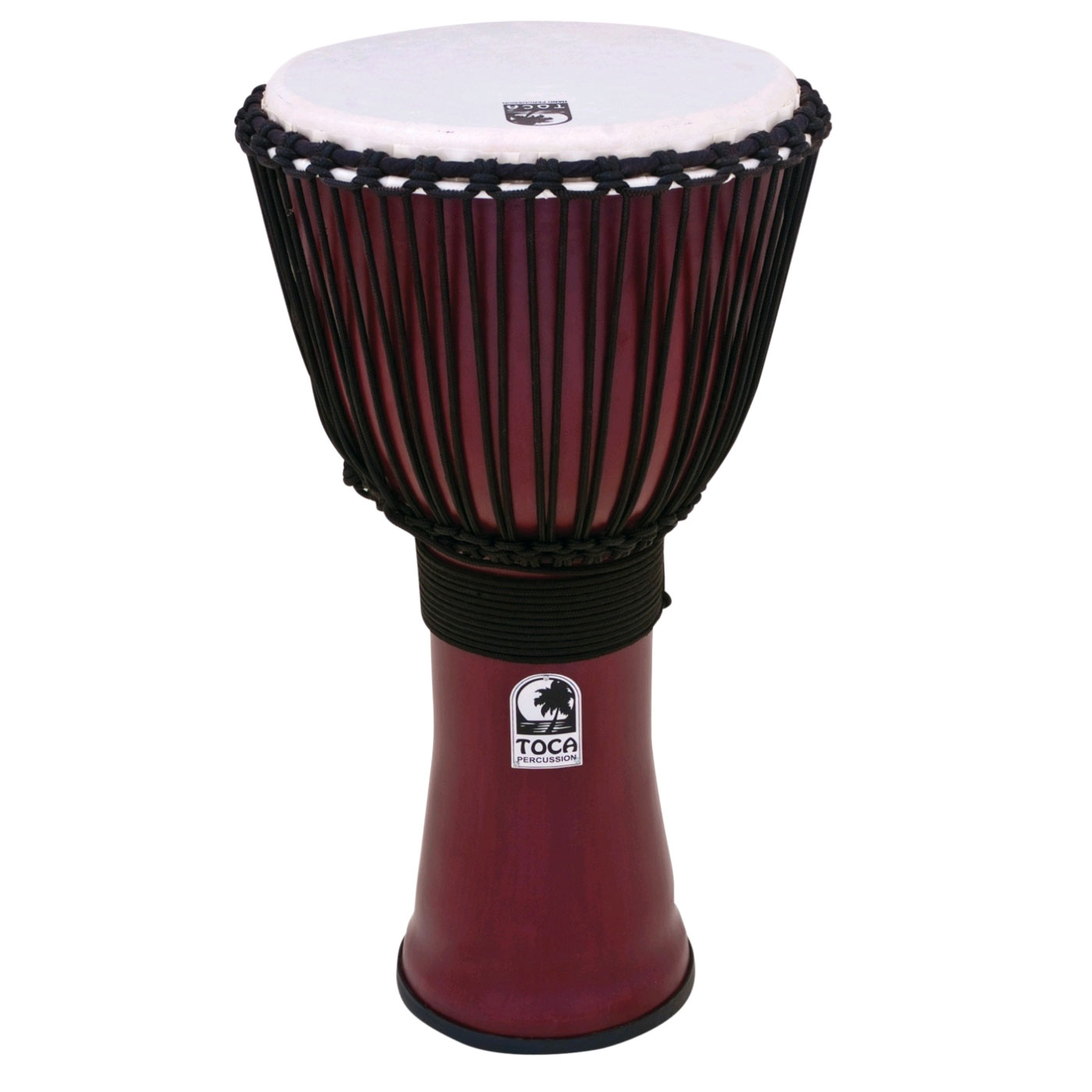 "Toca 12"" Freestyle II Rope-Tuned Djembe in Deep Red"