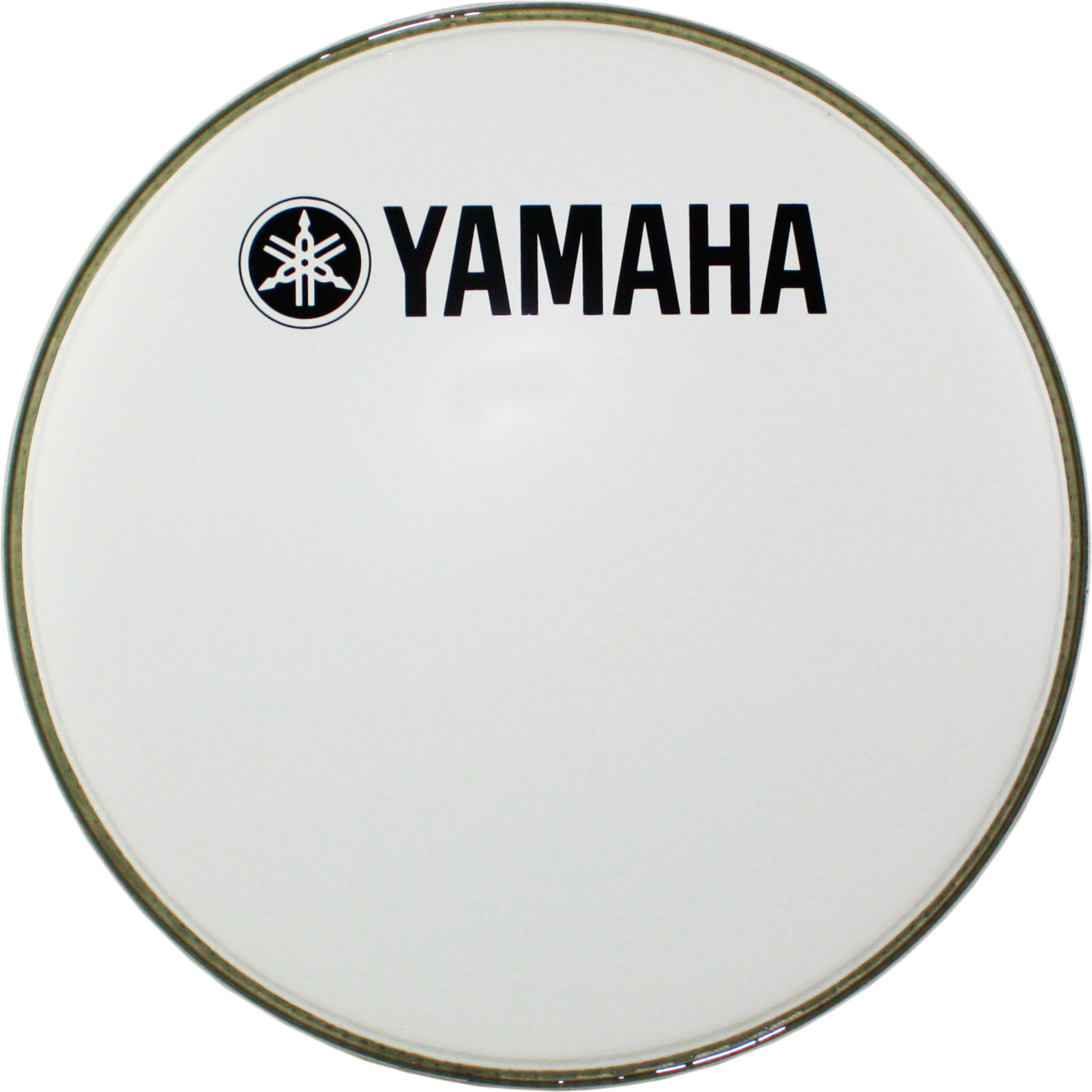 "Yamaha 22"" Ultra White Powermax Marching Bass Head"