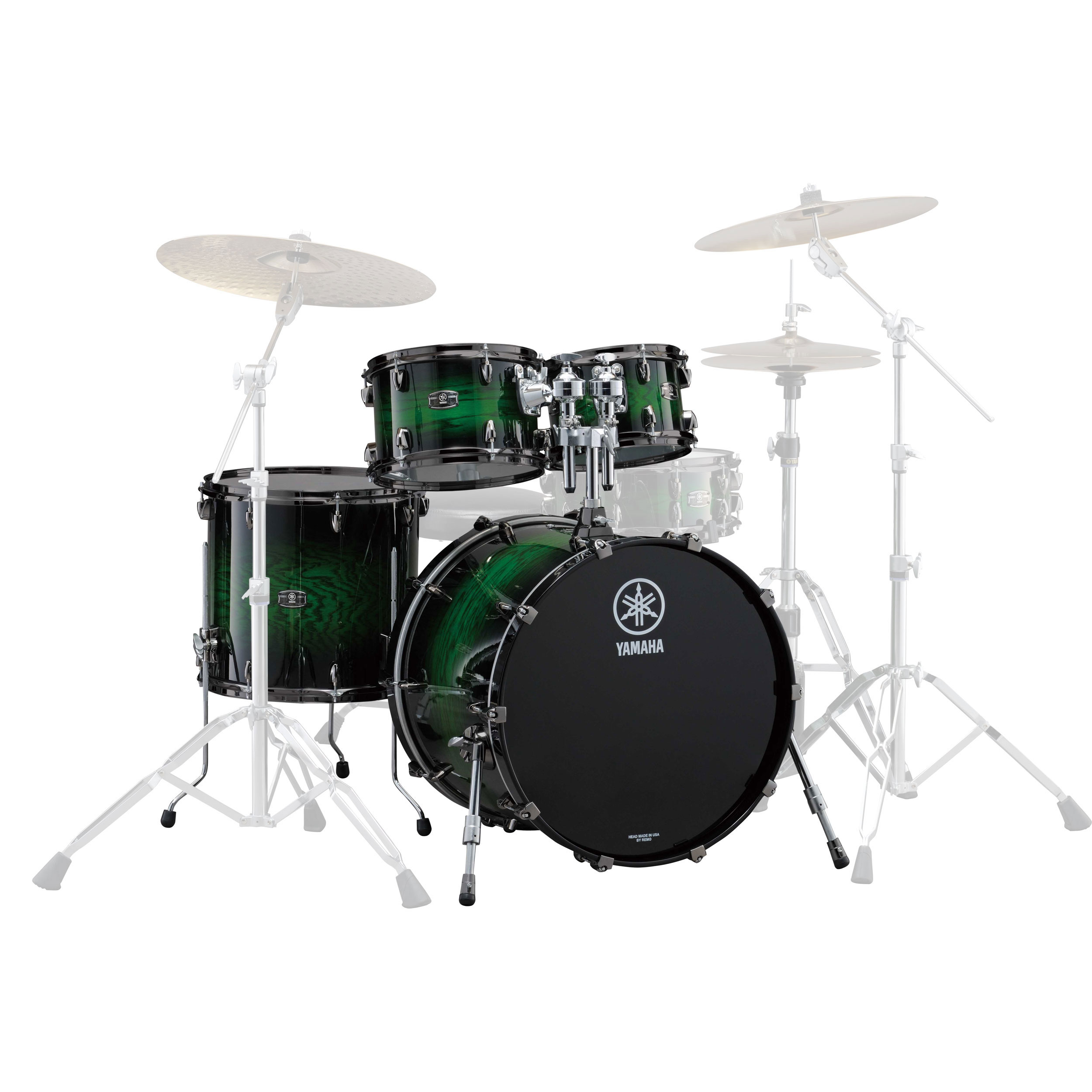 "Yamaha Live Custom 4-Piece Drum Set Shell Pack (20"" Bass, 10/12/14"" Toms)"