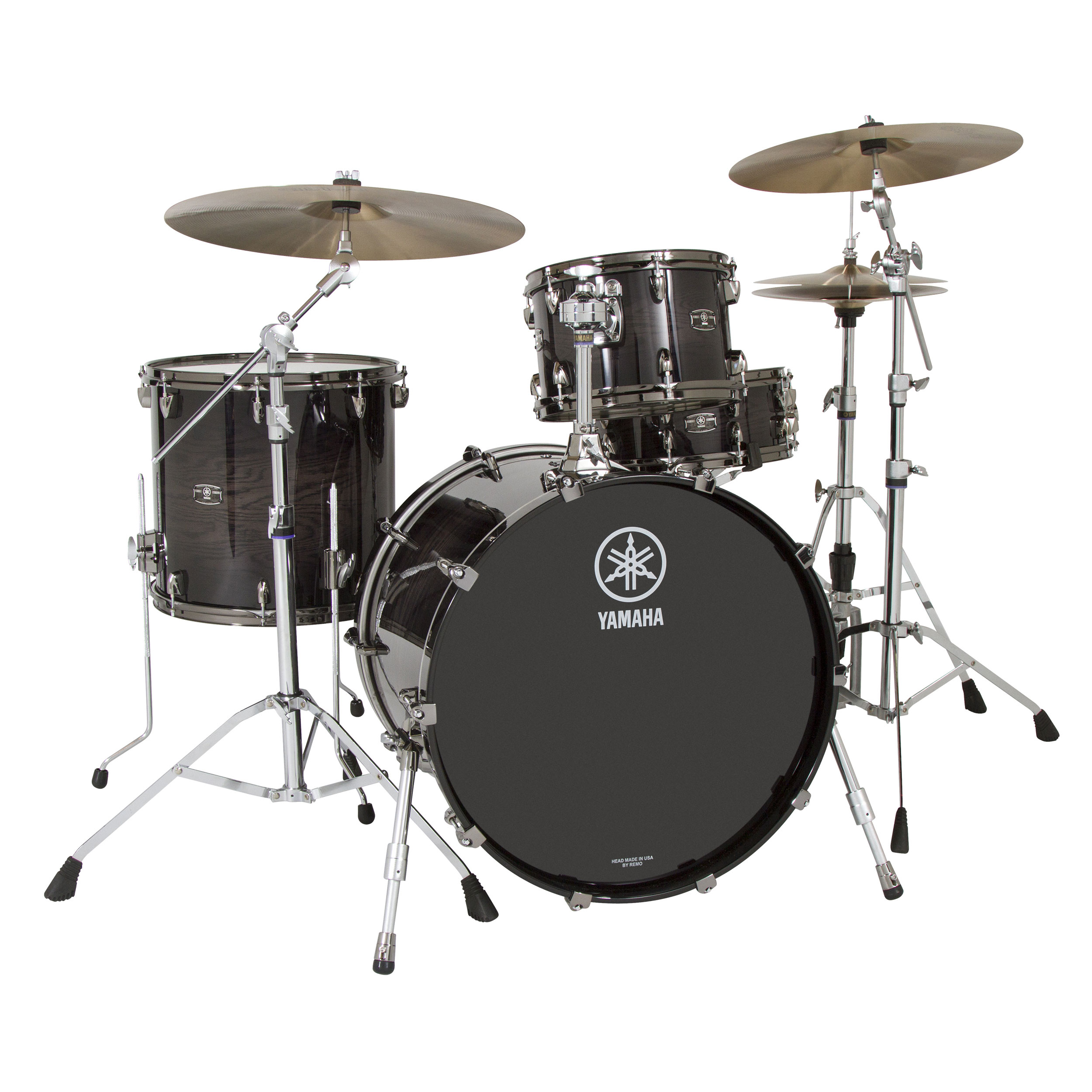 yamaha live custom 3 piece drum set shell pack 22 bass