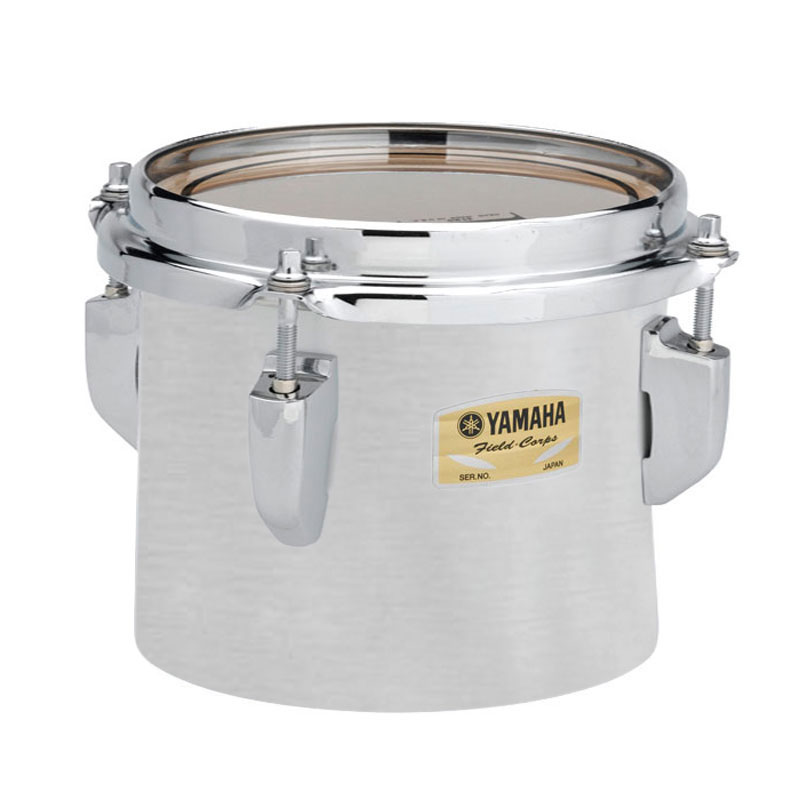 """Yamaha 12"""" 8200 Field-Corps Individual Marching Tenor Drum in Silky Silver (Used)"""