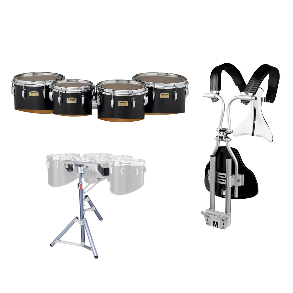 "Yamaha 10-12-13-14"" 8300 Field-Corps Marching Tenors with BiPosto Carrier and Stand"