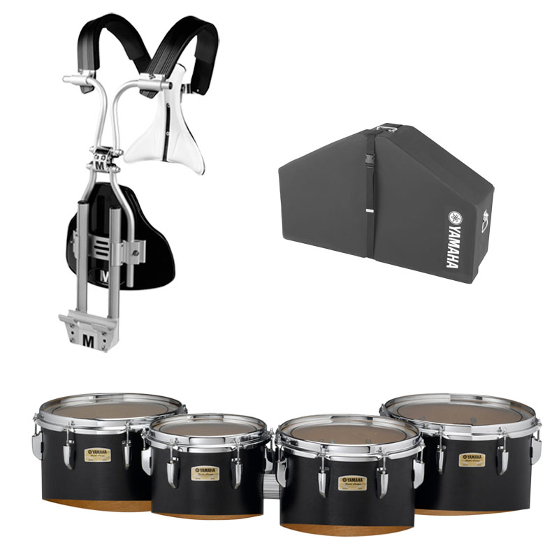 "Yamaha 10-12-13-14"" 8300 Field-Corps Marching Tenors with BiPosto Carrier and Case"