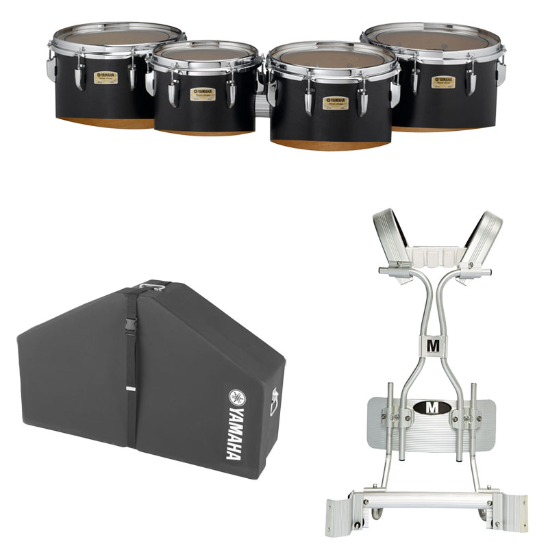 """Yamaha 10-12-13-14"""" 8300 Field-Corps Marching Tenors with Tube Carrier and Case"""
