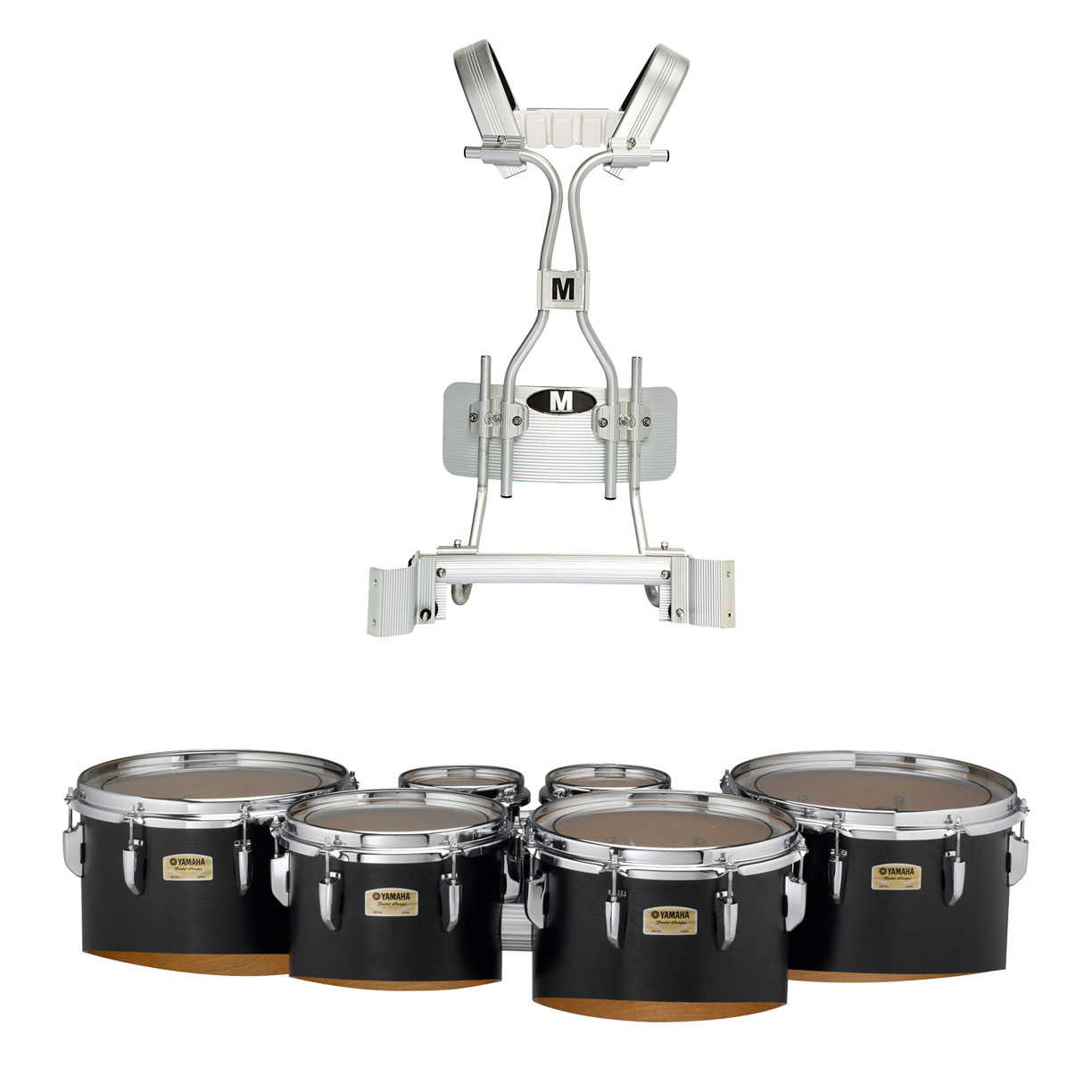 """Yamaha 6-6-8-10-12-13"""" 8300 Field-Corps Marching Tenors with Tube Carrier"""