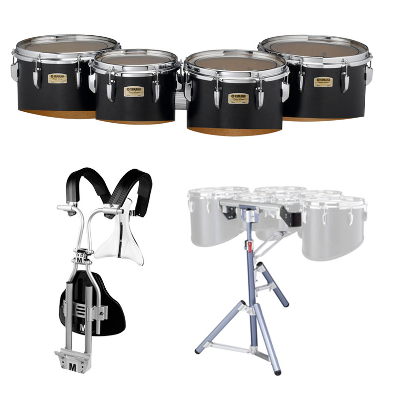 "Yamaha 8-10-12-13"" 8300 Field-Corps Marching Tenors with BiPosto Carrier and Stand"