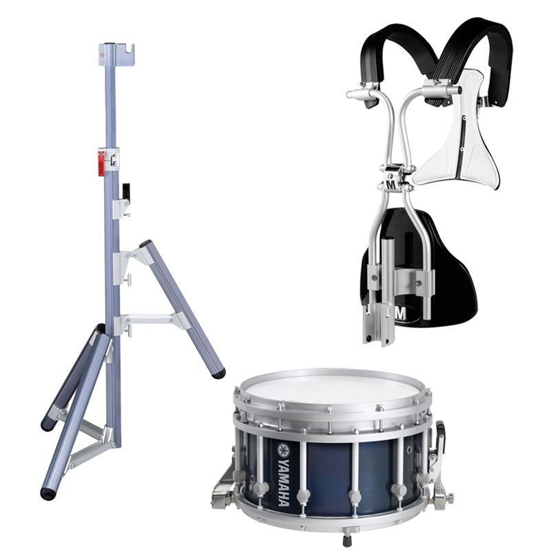 "Yamaha 14"" (Diameter) x 9"" (Deep) 9300 SFZ Piccolo Marching Snare Drum with MonoPosto Carrier and Stand"