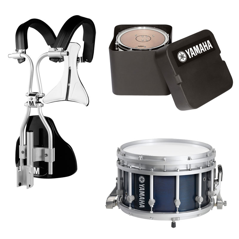 "Yamaha 14"" (Diameter) x 9"" (Deep) 9300 SFZ Piccolo Marching Snare Drum with MonoPosto Carrier and Case"