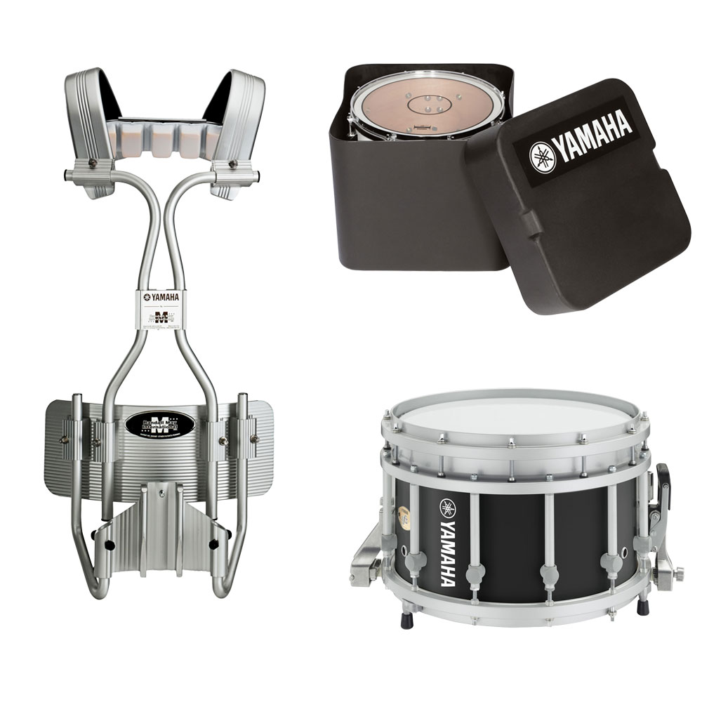 "Yamaha 14"" (Diameter) x 9"" (Deep) 9300 SFZ Piccolo Marching Snare Drum with Tube Carrier and Case"