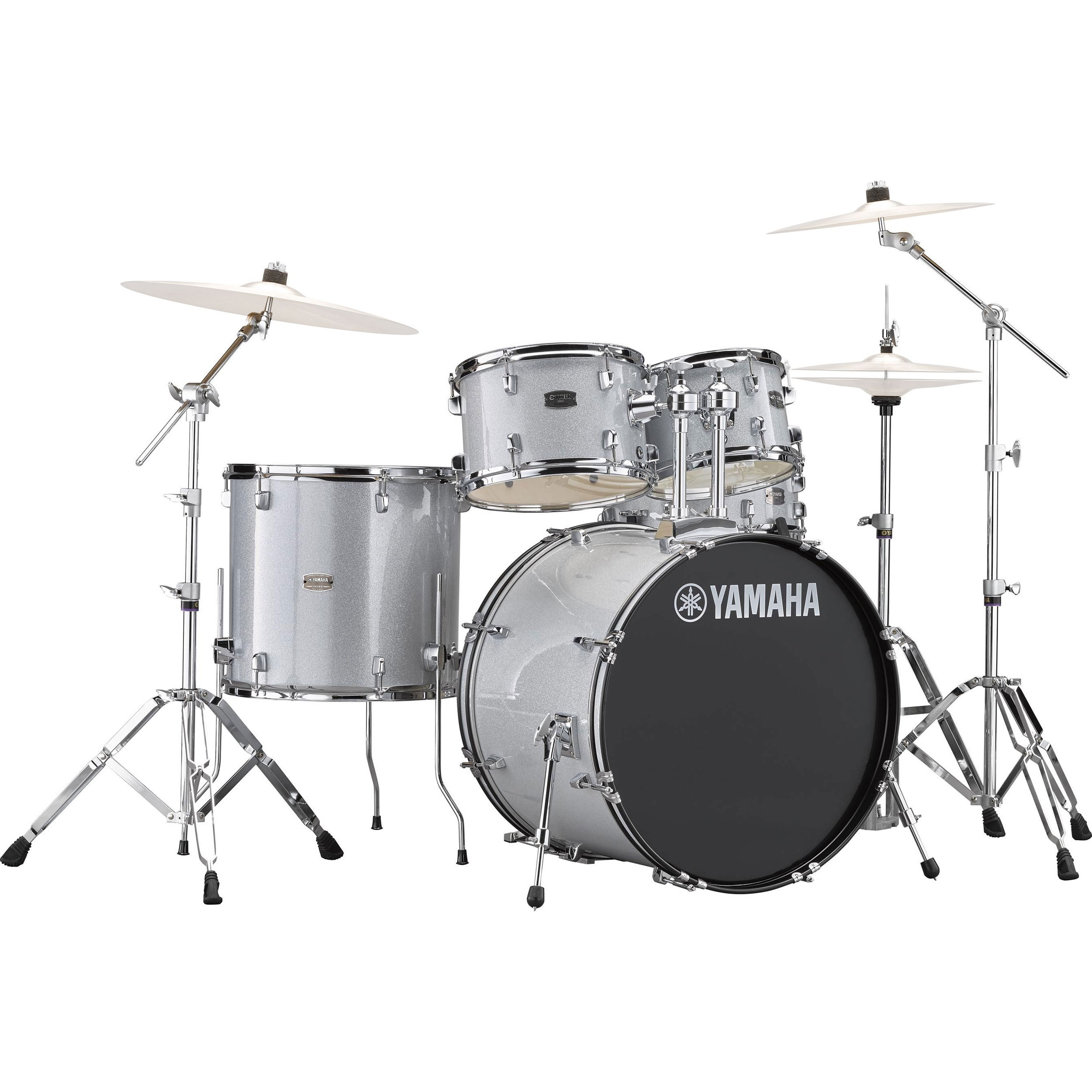 yamaha rydeen 5 piece drum set with hardware 22 bass 10 12 16 toms 14 snare rdp2f56w. Black Bedroom Furniture Sets. Home Design Ideas