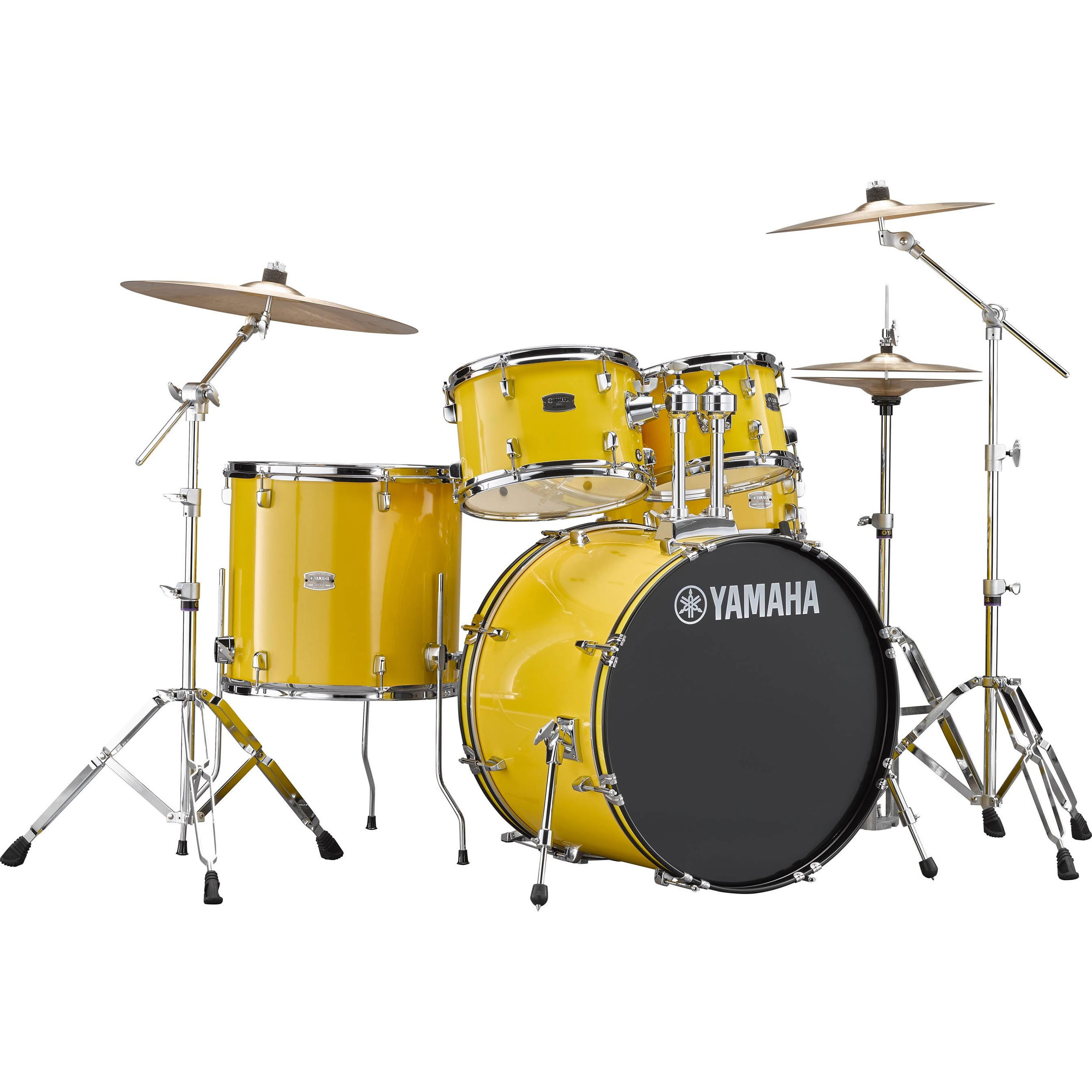 "Yamaha Rydeen 5-Piece Drum Set with Hardware & Cymbals (20"" Bass, 10/12/14"" Toms, 14"" Snare)"