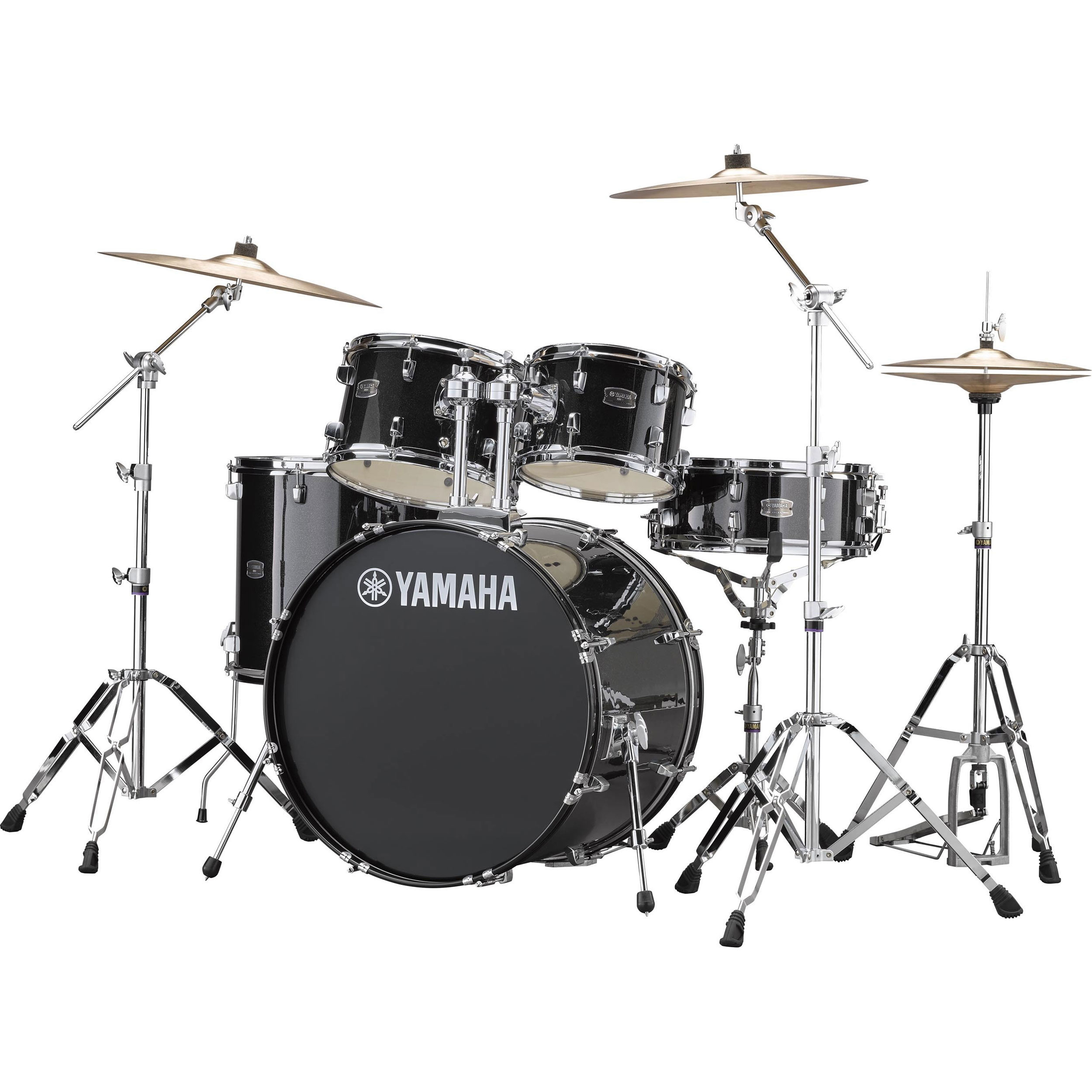 "Yamaha Rydeen 5-Piece Drum Set with Hardware & Cymbals (22"" Bass, 10/12/16"" Toms, 14"" Snare)"