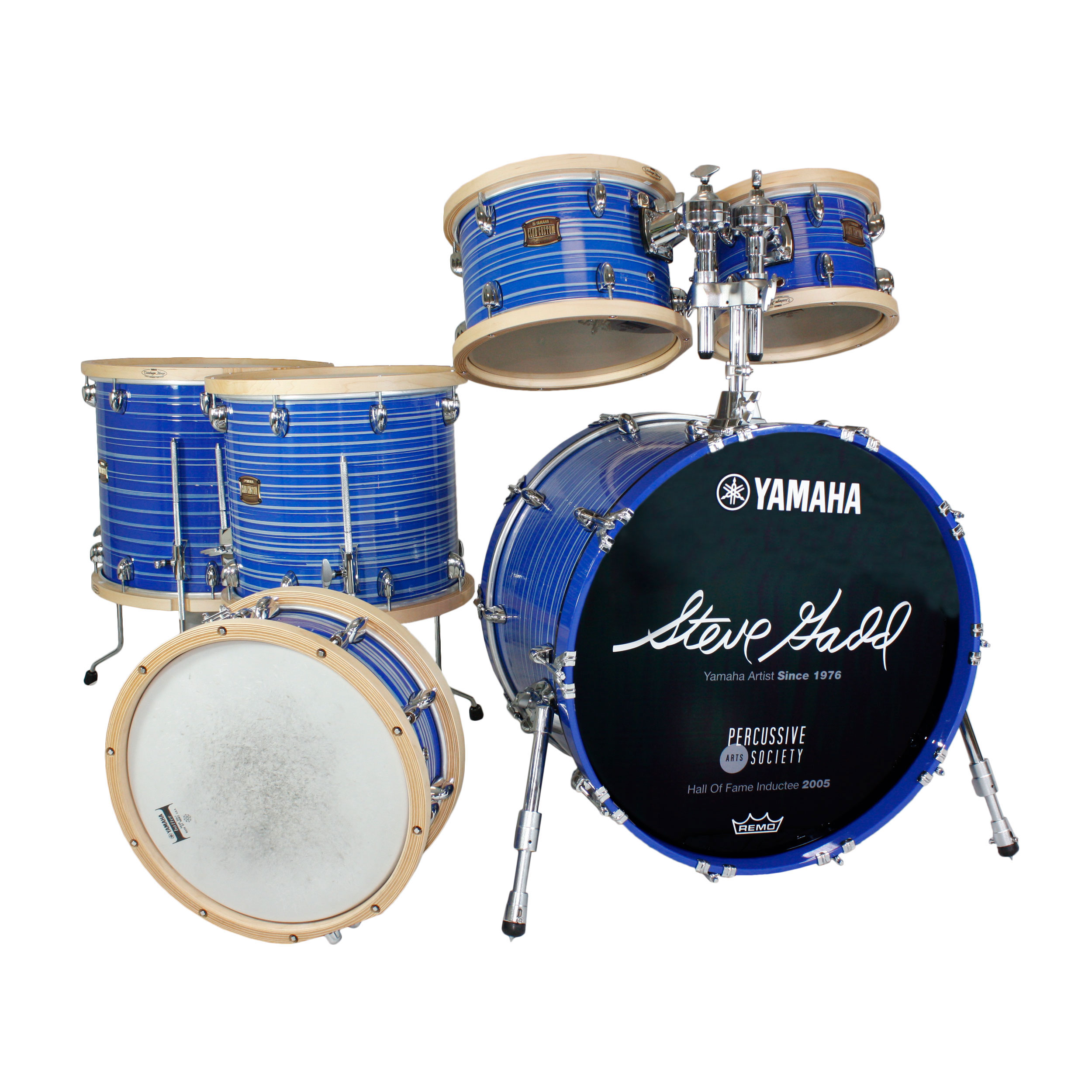 "Yamaha Club Custom Steve Gadd-Signed 6-Piece Drum Set Shell Pack (22"" Bass, 10/12/14/16"" Toms, 14"" Snare)"