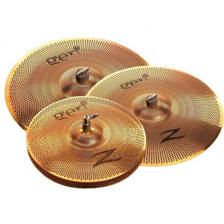 Zildjian Gen16 Buffed Bronze 3-Piece Cymbal Box Set (Hi Hats, Crash, Ride) with Electronics