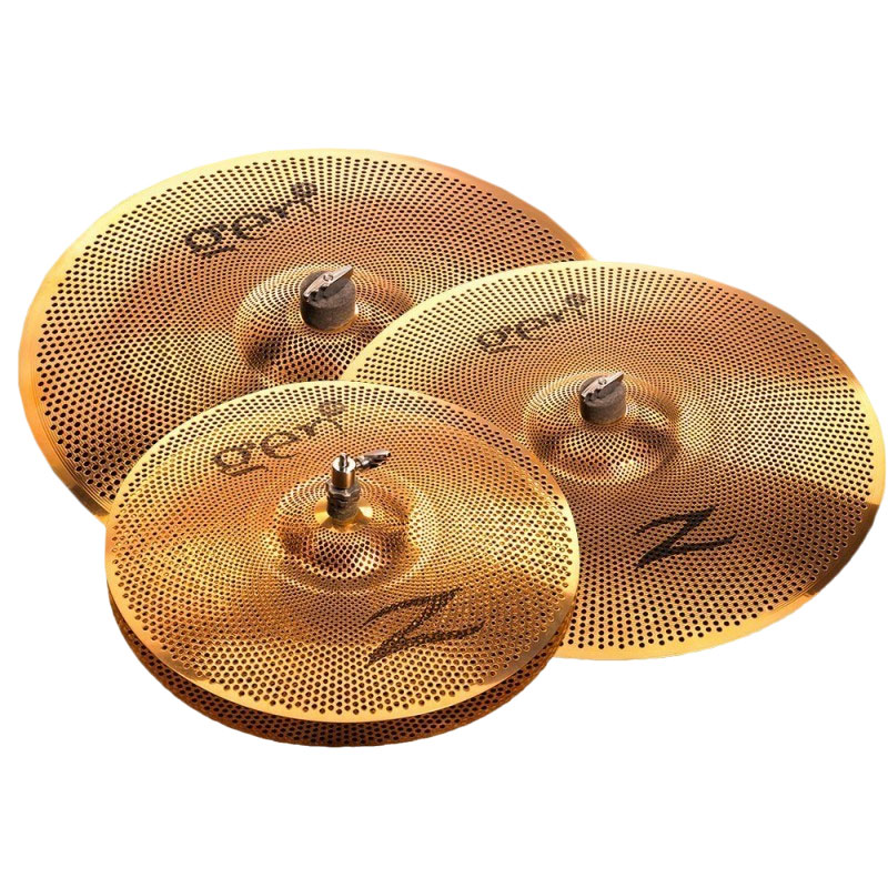 Zildjian Gen16 Buffed Bronze 3-Piece Cymbal Box Set (Hi Hats, Crash, Crash/Ride) with Electronics