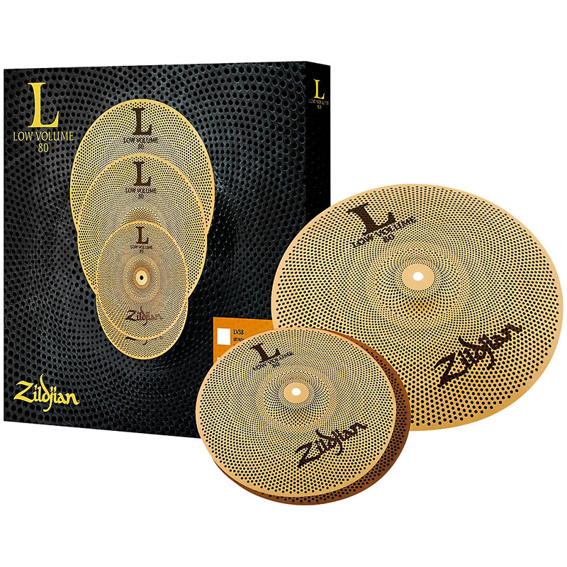 "Zildjian L80 Low Volume 38 2-Piece Cymbal Box Set (13"" Hi Hats, 18"" Crash Ride)"
