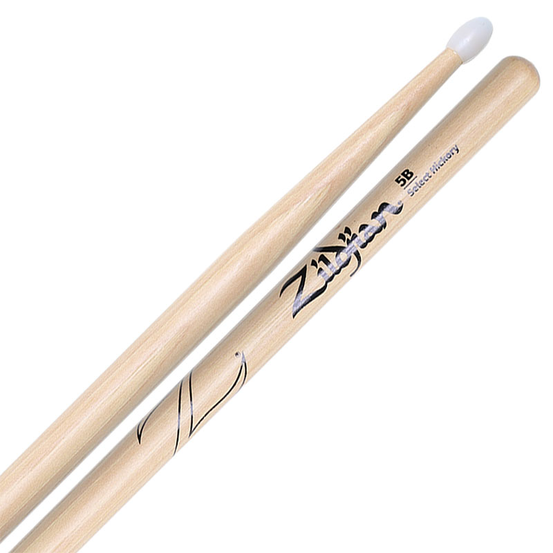 Zildjian Select Hickory Nylon Tip 5B Drumsticks
