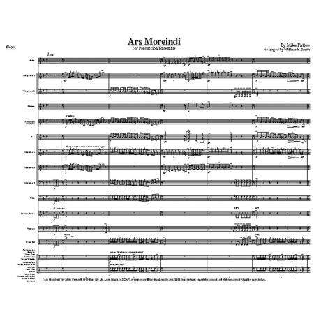 Ars Moreindi by Mike Patton arr. William H. Smith