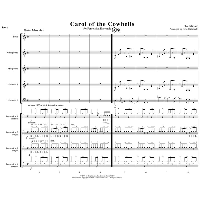 Carol of the Cowbells arr. John Willmarth