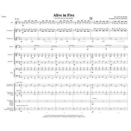 Alive in Five by Emil Richards arr. Schietroma