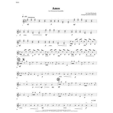 Amos by Emil Richards arr. Schietroma