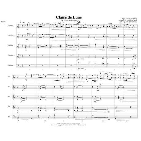 Clair de Lune by Claude Debussy arr. William H. Smith